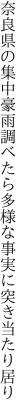 奈良県の集中豪雨調べたら 多様な事実に突き当たり居り